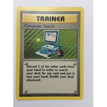 Carta Pokemon Base Set Treinador Busca Computadorizada Rara