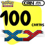 Lote 100 Cartas Pokémon X Y Com 10 Raras Sem Repetições