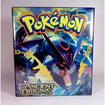 Álbum Fichário Para Pokémon C/20 Transparencias+10 Boosters