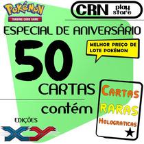 Lote Pokémon 50 Cartas Com Raras Sem Repetida Em Português