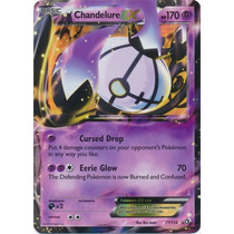 Carta Pokemon Chandelure Ex Legendary Treasures Inglês