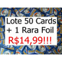 Pokemon Lote C/ 50 Cartas + 1 Rara - Sem Repetições R$14,99!