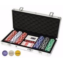 Mala De Poker 300 Fichas 11,5g Dealer Baralho Dados Toalha