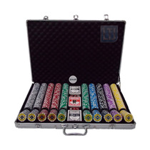 Maleta De Poker 1000 Fichas Numeradas 11,5 Gms Black Diamond