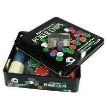 Kit Poker Profissional Em Lata Com 100 Fichas + 2 Decks