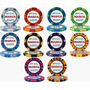300 Fichas De Poker Personalizadas Monte Carlo 14 Gm 10 Core