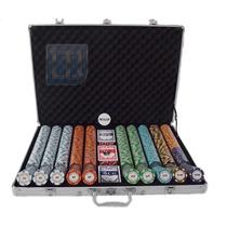 Maleta De Poker 1000 Fichas Monte Carlo 14 Grs 10 Cores