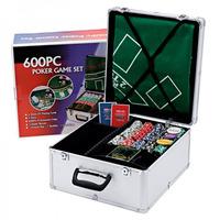 Maleta De Poker Poquer 600 Fichas Numeradas + Acessórios