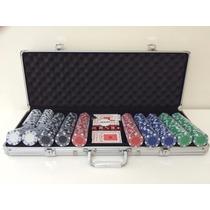 Kit Poker 500 Fichas Oficiais Com Maleta