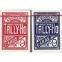 Baralho Tally Ho Circle Back Azul Ou Vermelho - Pôquer Poker