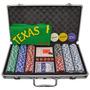 Maleta Poker 300 Fichas Oficiais Sem Numeração Kit Completo