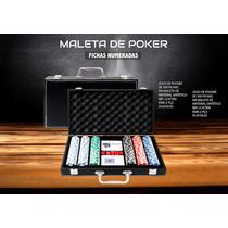 Maleta De Poker Oficial 500 Fichas Numeradas