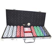Maleta De Poker 500 Peças Timbrada Em Aluminio A7150