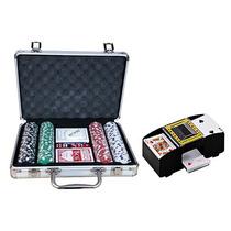 Maleta De Poker 200 Fichas + Embaralhador De Cartas