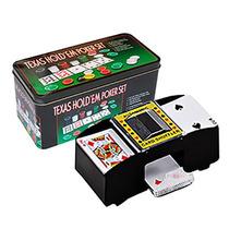 Kit Poker Com 200 Fichas + Embaralhador De Cartas