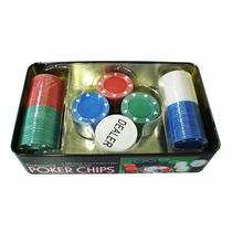 Poker Profissional 100 Fichas Super Luxo Lata