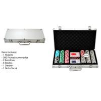 Maleta De Poker Kit 300 Fichas Numeradas
