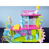 Casa Da Polly Pocket Com Acessórios E Moveis Mattel