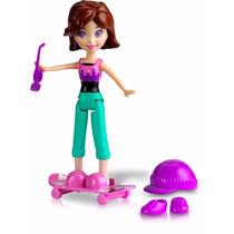 Boneca Polly Pocket - Lila Com Acessórios + Skate - Mattel
