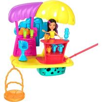 Boneca Polly Pocket Aventura Nuvens Casa Dos Sucos Mattel
