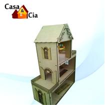 Casa De Boneca Em Mdf Cru - Polly