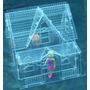 Casa Bonecas Acrílico Polly Barbie Pocket C1a2m Proteção Uv