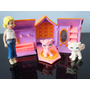 Lote Kit Boneca Polly Pocket Com Casinha Pet E Gatos Mattel