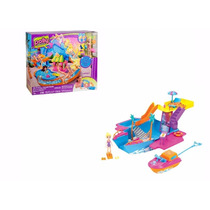 Polly Pocket Festa Na Piscina + Iate Festa Tropical - Mattel