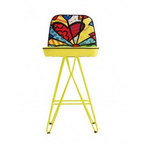 Banqueta Butterfly, New Day Romero Britto. Oficial.