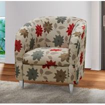 Poltrona Estella Decorativa Para Sala Recepção Cadeira Sofá