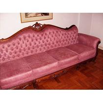 Conjunto De Sala C/ Um Sofa 4lugares E 2 Poltronas Jacaranda