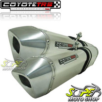 Escape Ponteira Coyote Trs Tri-oval Par Mt-03 Polido Yamaha