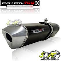Escape Ponteira Coyote Trs Tri-oval 2x1 Gs 500 Preto Suzuki