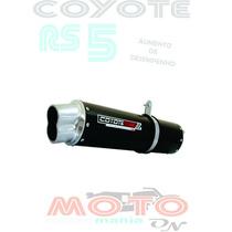 Escape Ponteira Coyote Rs5 Boca 8 Cbx Twister 250 Preto Hond