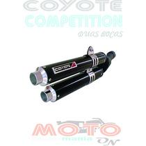 Escape Ponteira Coyote Competition Alumínio Pto Cb 300 Honda