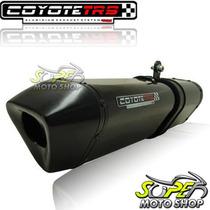Escape Ponteira Coyote Trs Tri-oval 2x1 Gs 500 Preto Black