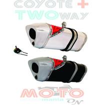 Escape / Ponteira Coyote Trs 2 Two Way + Bros 150 09 - Honda