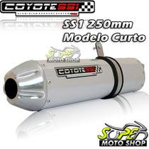 Escape Ponteira Coyote Ss1 230mm + Curva Inox Cb 300 Polido