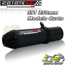 Escape Ponteira Coyote Ss1 230mm + Curva Inox Cb 300 P Black