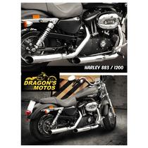 Escapamento Harley Sportster Custom 1200 Ca Limitada Abs
