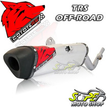 Escape Ponteira Coyote Trs Off-road Aluminio Crf 230 Honda