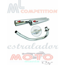 Escapamento Estralador Ml Competition Cg150 Titan Ks 09-13
