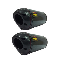 Escapamento Ponteira Yamaha Xt 660r Wr Oval Carbono Par