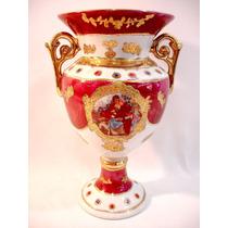 Ânfora Vaso Em Porcelana Europeia Antiga E Bela Século Xx