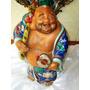 Maravilhoso,estupendo Budha Cerâmica Vitrificada,japão,19th