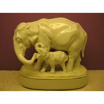 Grupo Elefantes Hutschenreuther, Art Deco, 1920-38, 17 Cm