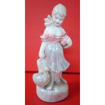 Antigo Bibelot Escultura Em Porcelana