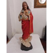 Imagem Em Biscuit Coração De Jesus