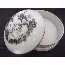 B. Antigo-caixa Decorada Com Cena Romantica Porcelana Saler