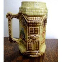 Antigo Caneco De Chop Decorativo Porcelana #2392